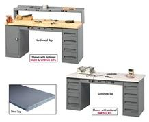 ELECTRONIC WORKBENCHES WITH MODULAR CABINETS